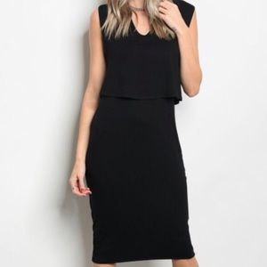 Dresses & Skirts - Black relaxed fit jersey dress ❣️